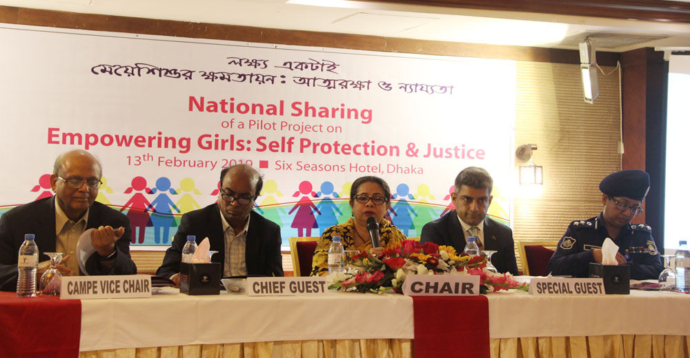 National Sharing of a Pilot Project on Empowering Girls: Self Protection & Justice.
